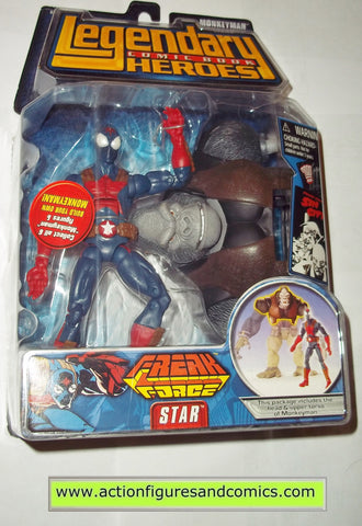 Legendary Comic Book Heroes STAR freak force Marvel Legends toy biz mib moc mip action figures