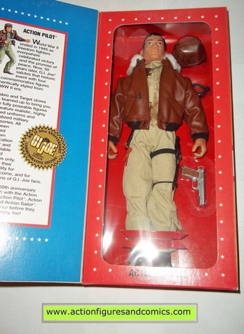 Gi joe ACTION PILOT 12 inch commemorative wwII 50th anniversary brown hair mib moc mip vintage