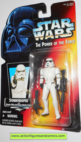 star wars action figures STORMTROOPER Red card 00 power of the force hasbro toys moc