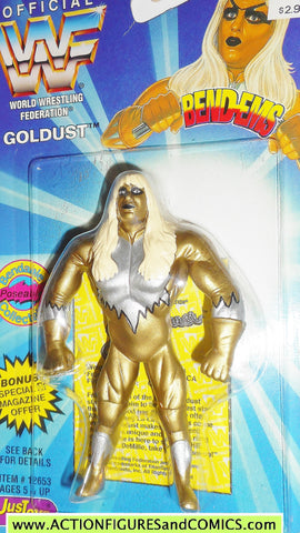 Wrestling WWF action figures GOLDUST 1996 bend-ems justoys III WWE moc