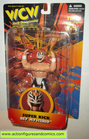 rey mysterio super kick wcw wwf action figures toys