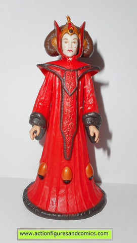 star wars action figures QUEEN AMIDALA Theed hanger power of the jedi action figures