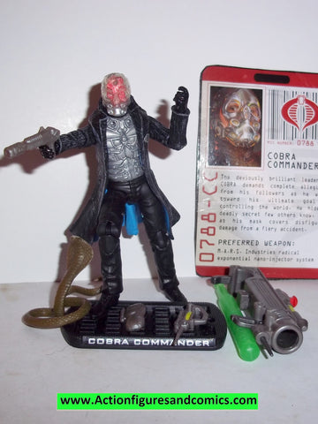 gi joe COBRA COMMANDER 2009 v43 VARIANT chest holes rise of cobra movie series complete action figures w fc
