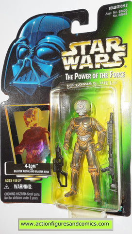 star wars action figures 4-LOM BOUNTY HUNTER power of the force hasbro toys moc