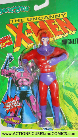 marvel super heroes MAGNETO X-MEN 1991 bend ems justoys action figures moc