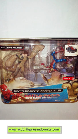 Spider-man movie 3 SAND MAN BLAST BATTLE pack marvel legends moc mip mib