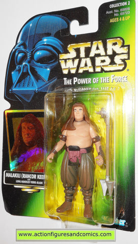 star wars action figures MALAKILI Rancor Keeper power of the force hasbro toys moc