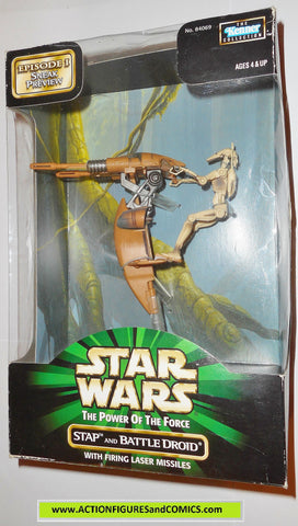 star wars action figures STAP BATTLE DROID episode I 1999 moc mib
