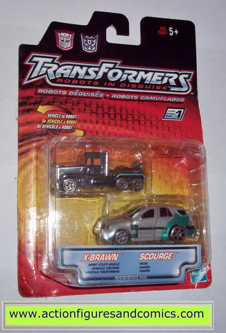 transformers RID SCOURGE NEMESIS PRIME & X-BRAWN robots in disguise hasbro toys action figures 2000 2001