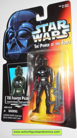 star wars action figures TIE FIGHTER PILOT 1996 power of the force hasbro toys moc mip mib