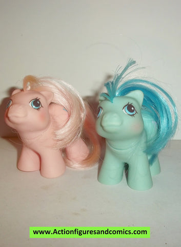 my little pony BABY DOODLES and NOODLES twins 1986 mlp vintage 1987 ponies