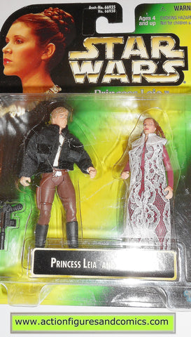 star wars action figures PRINCESS LEIA HAN SOLO BESPIN .00 GRAY card power of the force moc