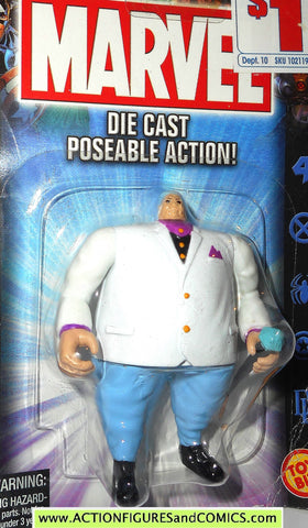 Marvel die cast KINGPIN poseable action figure 2002 spider-man toybiz moc 00
