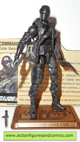 gi joe SNAKE EYES 2009 v42 25th anniversary hall of heroes action figures
