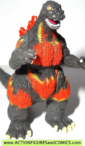 "GODZILLA bandai GODZILLA atomic fire 2 inch 2.5"" 2002 pack of destruction figure"