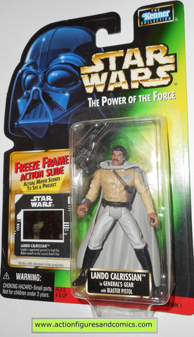 star wars action figures LANDO CALRISSIAN general .00 1998 power of the force hasbro toys moc