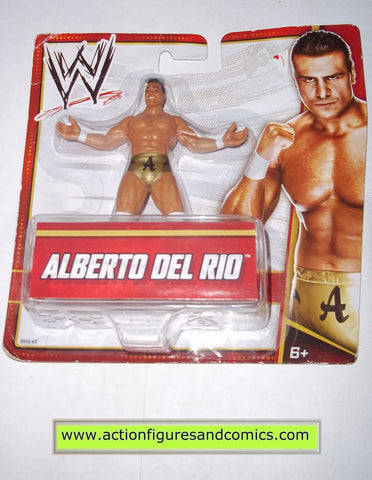 Wrestling WWE action figures ALBERTO DEL RIO mattel toys dollar store 2012 mini action figure moc mip mib