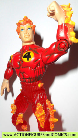marvel super heroes toy biz HUMAN TORCH fire ice fantastic four 4 action figure