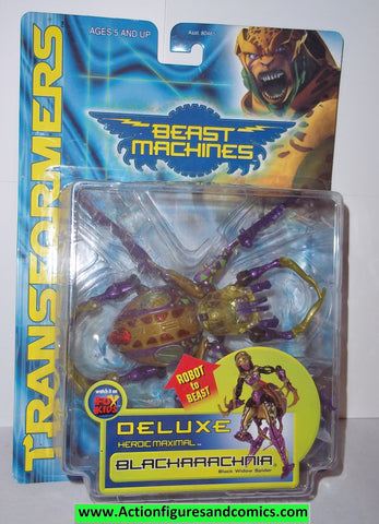 Transformers beast machines BLACKARACHNIA 1999 black widow spider moc