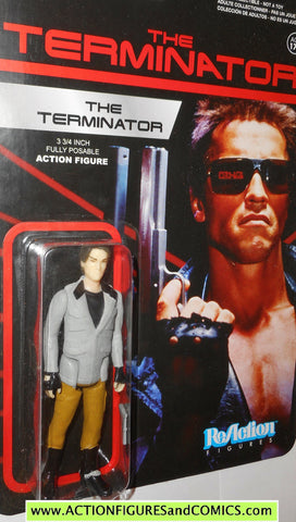 Reaction figures Terminator Arnold Swartzenegger movie funko toys action moc