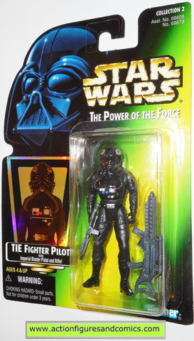 star wars action figures TIE FIGHTER PILOT .03 power of the force hasbro toys moc
