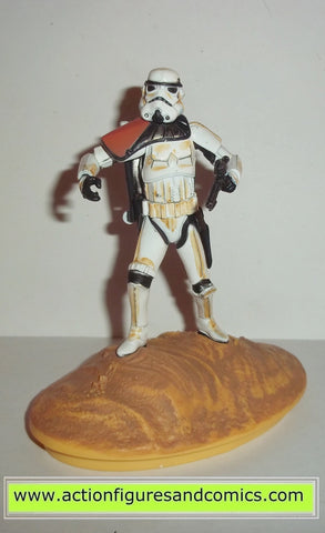 star wars action figures Titanium SANDTROOPER tatooine stormtrooper die cast metal