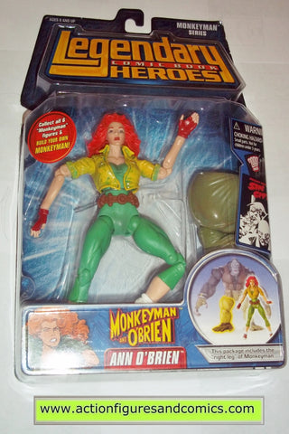 Legendary Comic Book Heroes ANN O'BRIEN Monkeyman Marvel Legends toy biz mib moc mip action figures