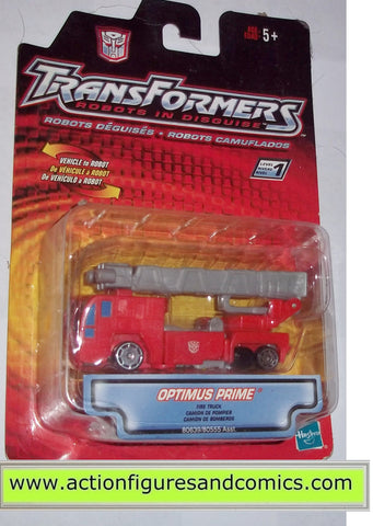 transformers RID OPTIMUS PRIME firetruck robots in disguise 2001 toys moc