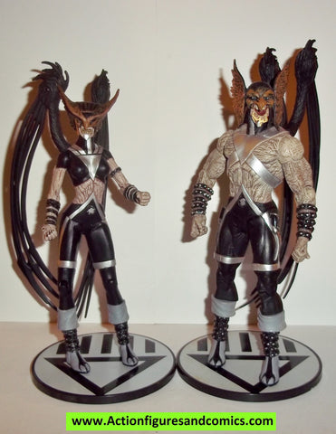 dc direct HAWKMAN HAWKGIRL black lantern blackest night lot collectables action figures universe complete