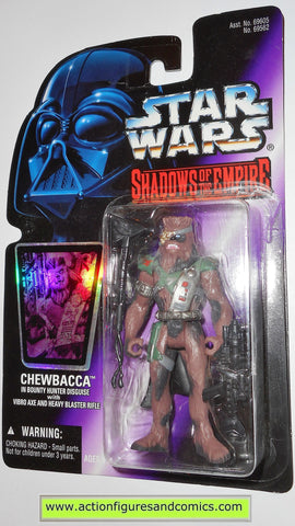 star wars action figures CHEWBACCA BOUNTY HUNTER shadows of the empire power of the force 1997 hasbro toys moc mip mib