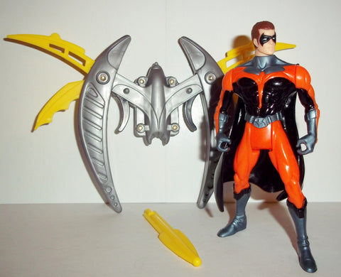 batman & robin BLADE BLAST ROBIN 100% complete movie series kenner 1997