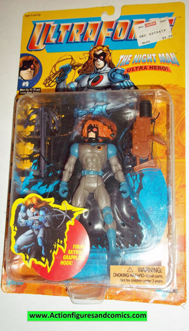 Ultraforce THE NIGHT MAN 1995 #9 galoob action figures moc mib mip