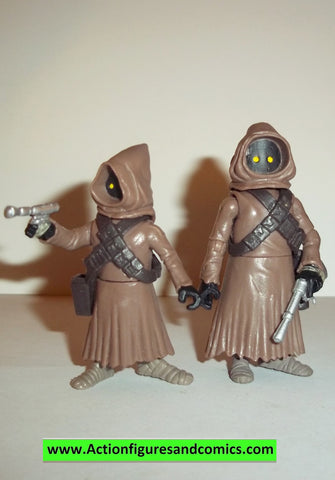 star wars action figures JAWAS jawa clone wars animated 2009