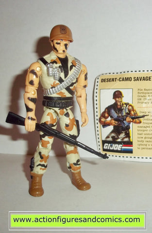 Gi joe DESERT CAMO SAVAGE 1995 sgt savage hasbro toys action figures mail away exclusive