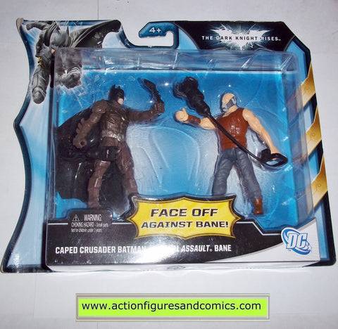 dc universe batman dark knight rises CAPED CRUSADER vs BANE FINAL ASSAULT infinite heroes mattel toys movie action figures