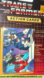 Transformers action cards SOUNDWAVE MEGATRON STARSCREAM cockpit trading card 1985
