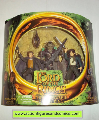 Lord of the Rings MERRY PIPPIN MORIA ORC toy biz hobbit movie action figures mib moc mip