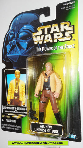 star wars action figures LUKE SKYWALKER ceremonial outfit PHOTO 01 power of the force moc