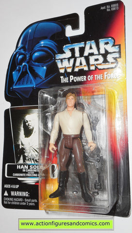 star wars action figures HAN SOLO CARBONITE freezing chamber power of the force hasbro toys moc mip mib
