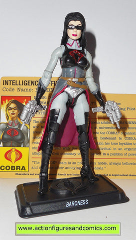 gi joe BARONESS 2009 resolute v16 25th anniversary hasbro toys action figures