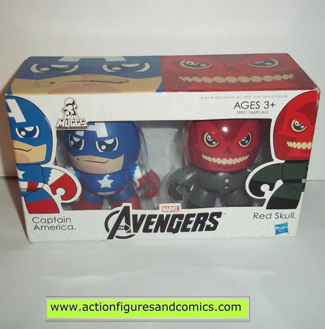 mighty muggs marvel universe CAPTAIN AMERICA & RED SKULL avengers movie mini
