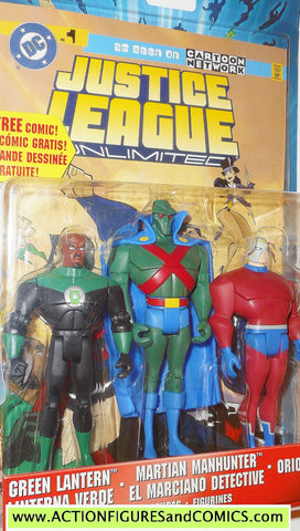 justice league unlimited GREEN LANTERN MARTIAN MANHUNTER ORION 3 pack moc action figures