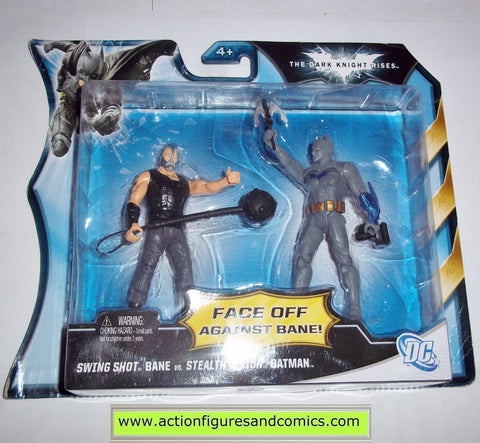 dc universe batman dark knight rises BANE vs STEALTH VISION swing shot infinite heroes mattel toys movie action figures