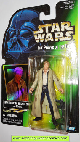 1996 Hasbro Kenner Star Wars POTF Power of the Force Holo Card Endor Han Solo