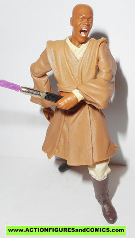 star wars action figures MACE WINDU arena confrontation 2002 attack of the clones