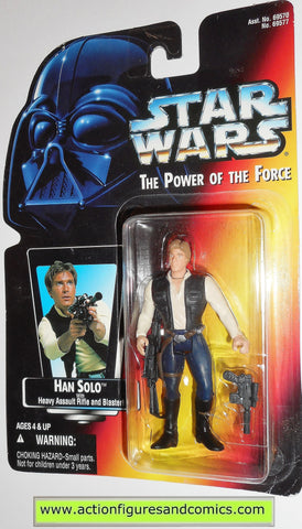 star wars action figures HAN SOLO 1995 power of the force hasbro toys moc