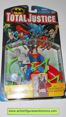 Total Justice JLA SUPERMAN 1996 dc universe league kenner toys action figures moc mib mip