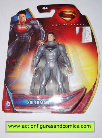 superman man of steel silver dc universe action figures toys