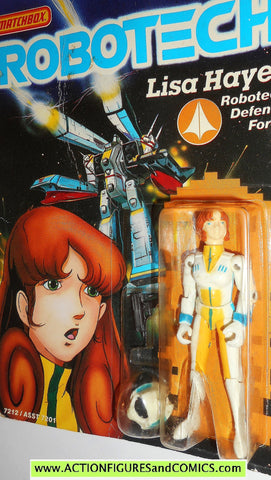 Robotech LISA HAYES matchbox toys 1985 action figures moc 0144