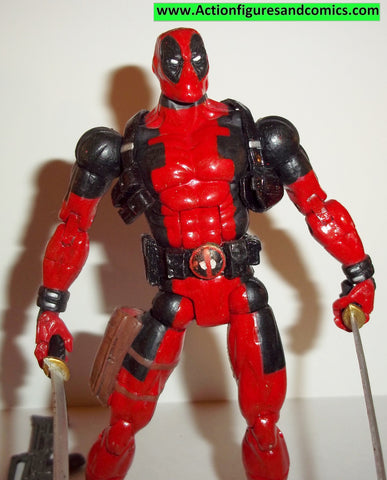 marvel legends DEADPOOL CUSTOM red classic suit toy biz hasbro complete